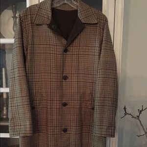 Ralph Lauren Reversible houndstooth career coat